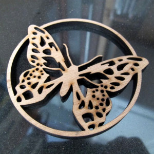 Butterfly engraving