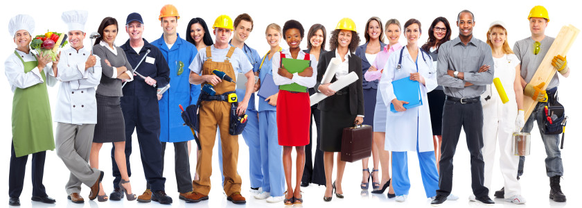 Business people workers group.